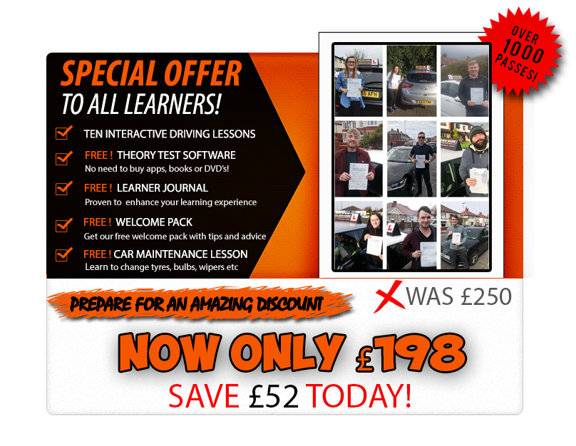 Driving lessons Blackpool discount