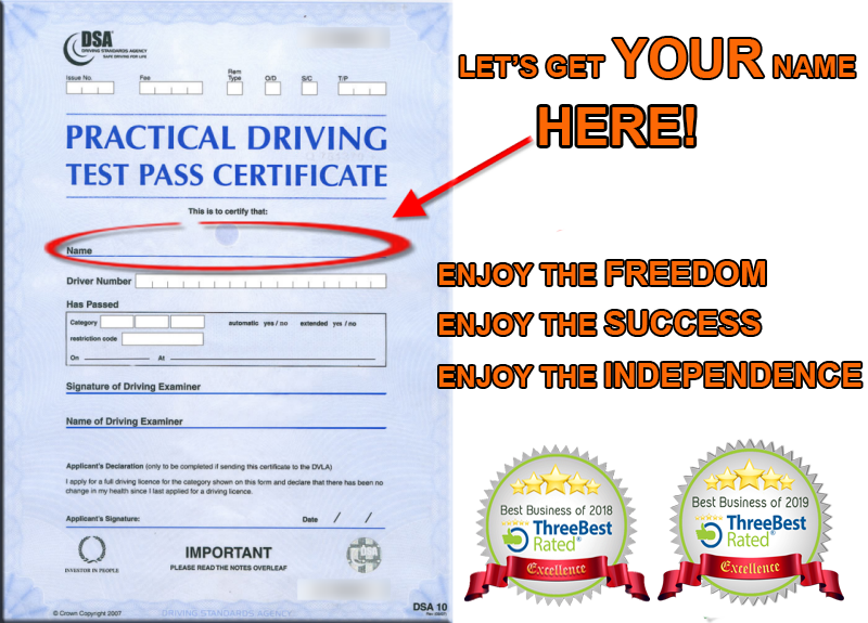driving test certificate blackpool