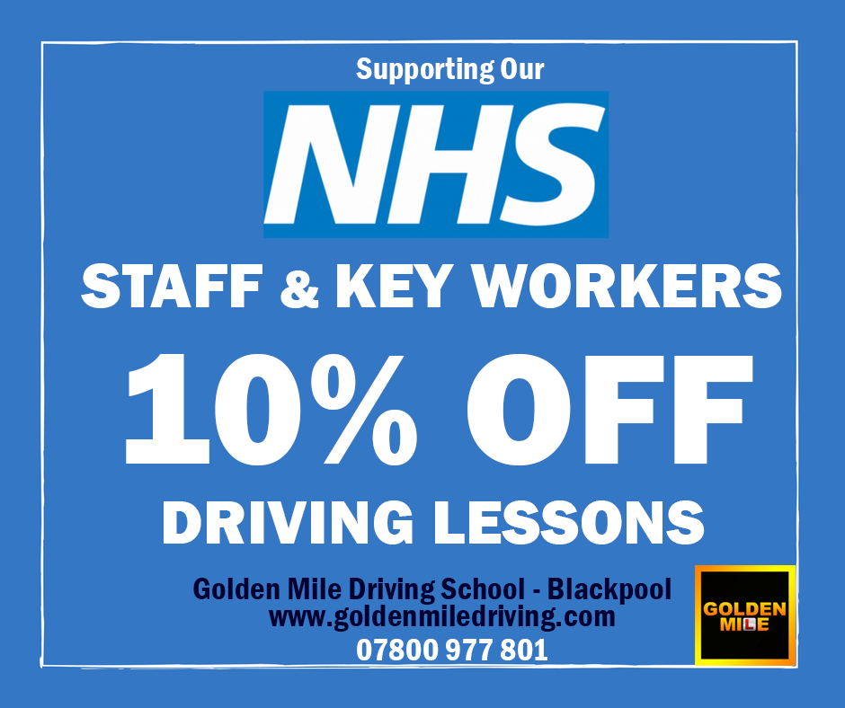 NHS discount Driving lessons Blackpool